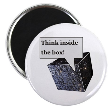 """Think inside the box! 2.25"""" Magnet (10 pack)"""