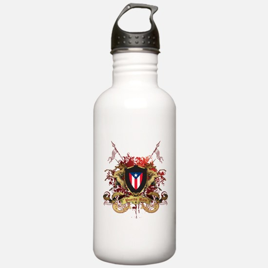 Puerto rican pride Water Bottle