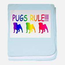 Pug baby blanket