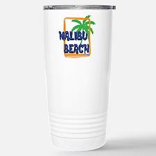 Malibu Beach Palm Tree Travel Mug