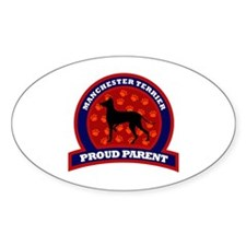 Manchester Terrier Oval Decal