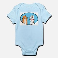 Cat and Dog Cleaning Their Te Infant Bodysuit