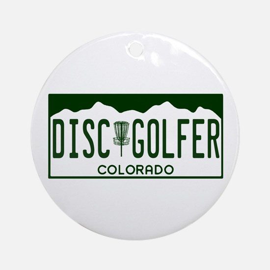 CO Disc Golfer Ornament (Round)