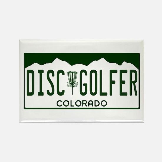 CO Disc Golfer Rectangle Magnet