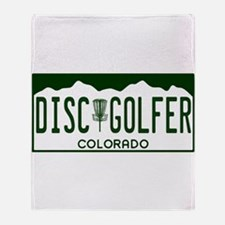 CO Disc Golfer Throw Blanket