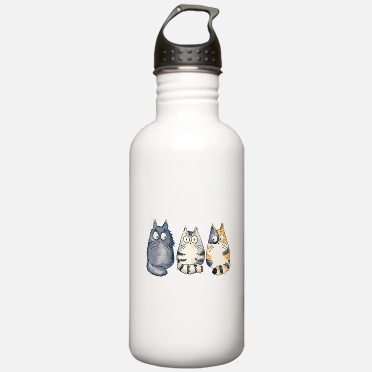 Three 3 Cats Water Bottle