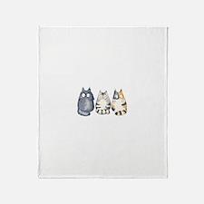 Three 3 Cats Throw Blanket