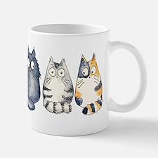Three 3 Cats Small Mugs