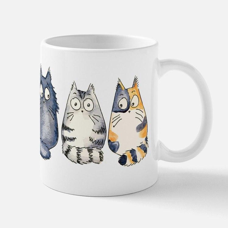 Three 3 Cats Small Small Mug