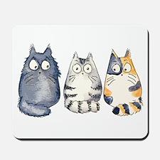 Three 3 Cats Mousepad
