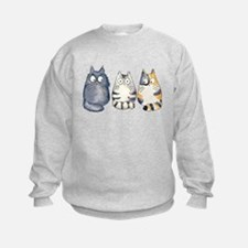 Three 3 Cats Sweatshirt