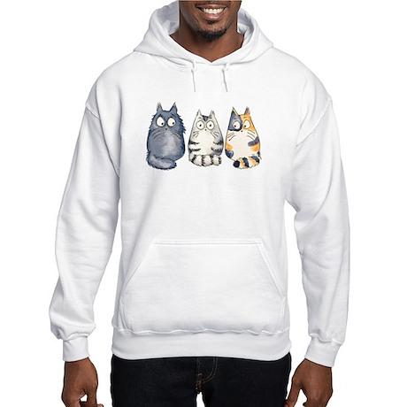 Three 3 Cats Hooded Sweatshirt