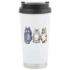 Three 3 Cats Travel Mug