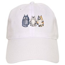 Three 3 Cats Baseball Baseball Cap