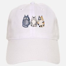 Three 3 Cats Baseball Baseball Cap