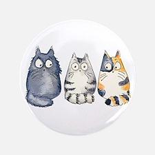 "Three 3 Cats 3.5"" Button"