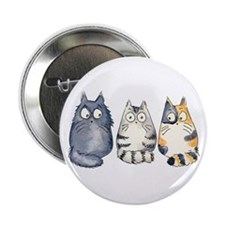"Three 3 Cats 2.25"" Button"