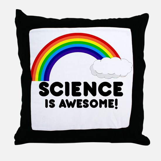 Science Is Awesome Throw Pillow