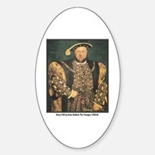 Holbein Henry VIII Oval Decal