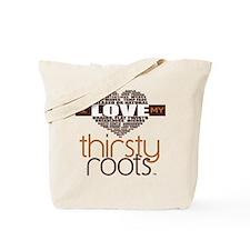Brown Heart Hair Terms Tote Bag