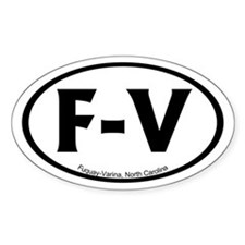 Fuquay-Varina, NC Oval Stickers
