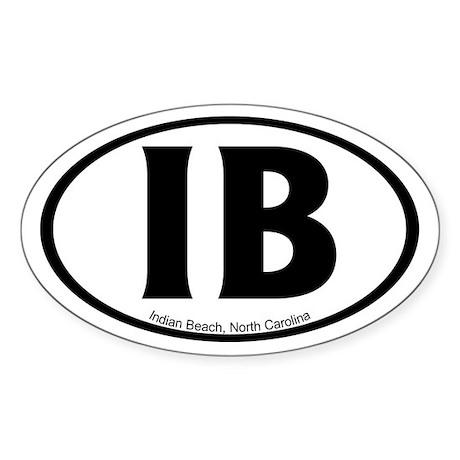 Indian Beach, NC Oval Sticker