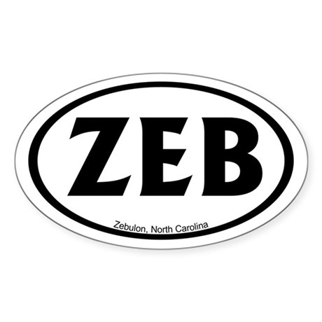 Zebulon, NC Oval Sticker