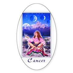 Cancer Oval Decal