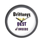 Brittany Best of Breeds Wall Clock