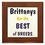 Brittany Best of Breeds Framed Tile