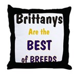 Brittany Best of Breeds Throw Pillow