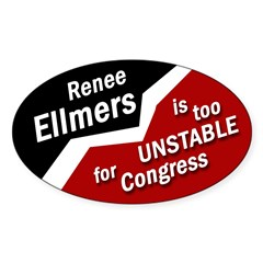 Renee Ellmers is Unstable bumper sticker