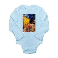 Cafe - Airedale (S) Long Sleeve Infant Bodysuit