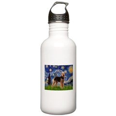 Starry Night - Airedale #6 Water Bottle