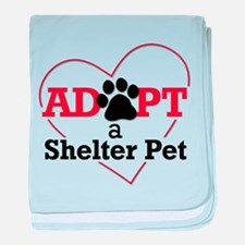 Adopt a Shelter Pet baby blanket