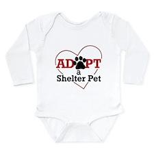 Adopt a Shelter Pet Long Sleeve Infant Bodysuit