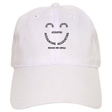 Accounting Smile Baseball Cap