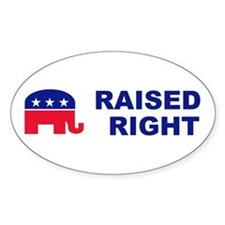 Raised Right GOP political bumper Decal