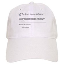Brain cannot be found! Baseball Cap