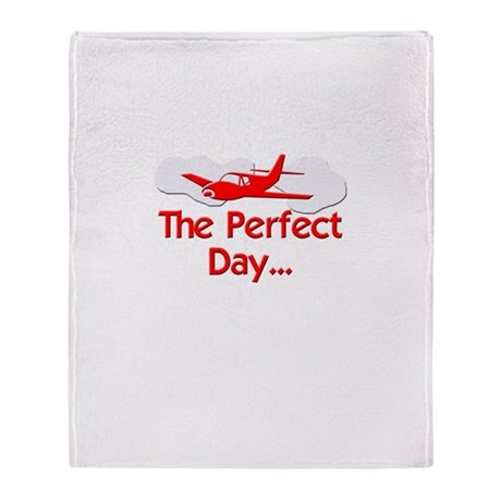 Red Airplane Throw Blanket