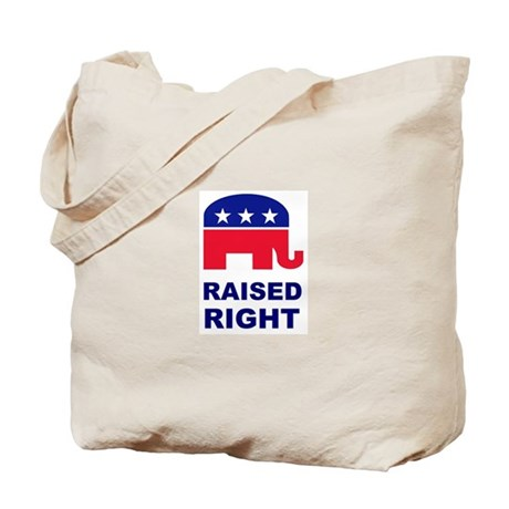Raised Right GOP Tote Bag