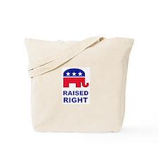 Raised Right GOP Tote Bag