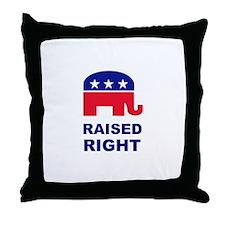 Raised Right GOP Throw Pillow