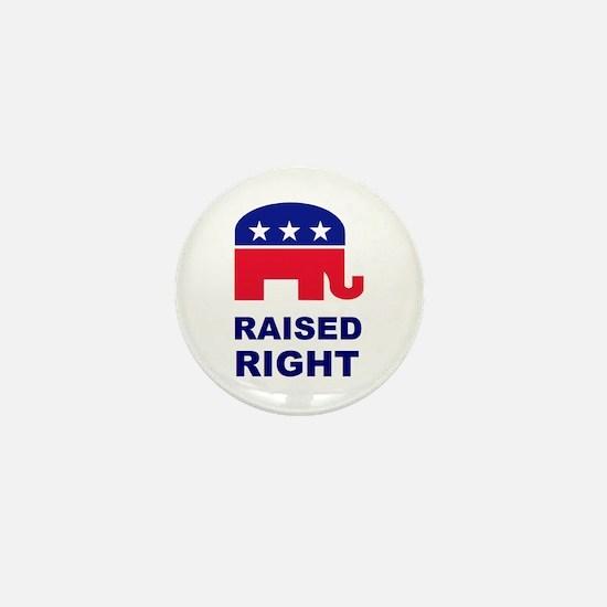 Raised Right GOP Mini Button