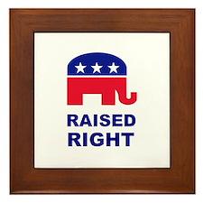 Raised Right GOP Framed Tile