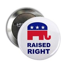 """Raised Right GOP 2.25"""" Button"""