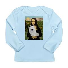 MonaLisa-AmEskimoDog Long Sleeve Infant T-Shirt
