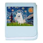 Starry-Am. Eskimo Dog baby blanket