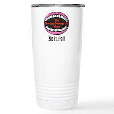 Morton Downey Jr. Zip It Logo Travel Mug