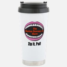 Morton Downey Jr. Zip It Logo Travel Mug